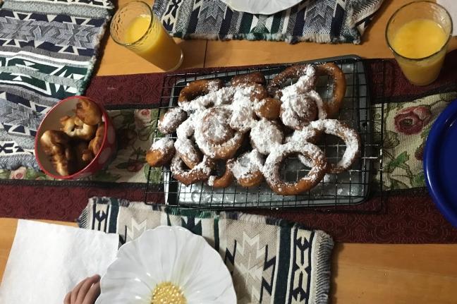 Powder Sugar coated donuts